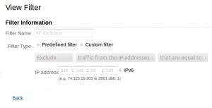 internal IP addresses