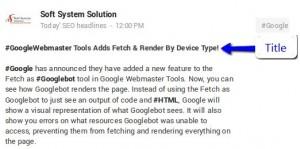 Google Plus Title Tag